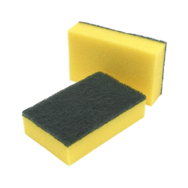 Caterers gripped sponge scourer