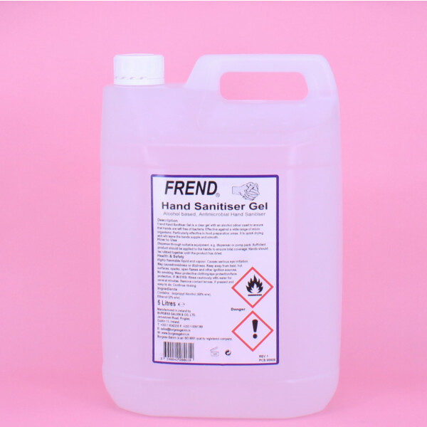 Frend Hand Sanitiser Gel 5 Litres McKechnie Cleaning Services