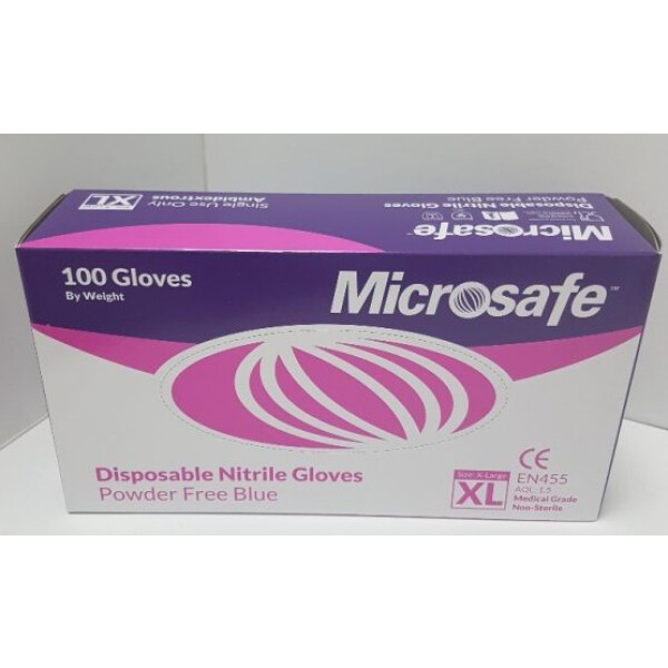 Microsafe naturelle nitrile gloves